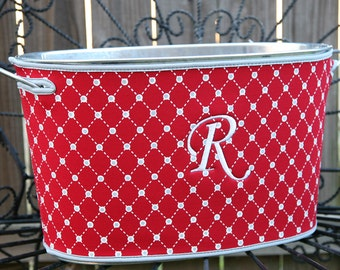 SALE - Galvanized Tin Tub with Neoprene Cover - Party Tub