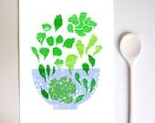 Lettuce Art Print / high quality fine art print
