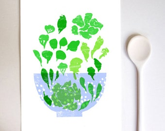 Lettuce Art Print / high quality fine art print