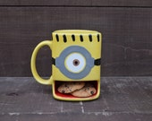 A Minion of My Very Own - Ceramic Cookies and Milk Dunk Mug - One Eye - Made to Order