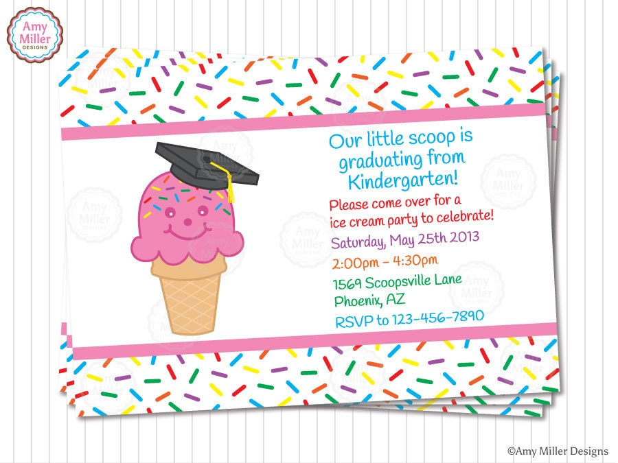 It is an image of Rare Preschool Graduation Invitations Free Printable