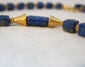 Faceted Lapis Lazuli 14K Gold Filled Necklace