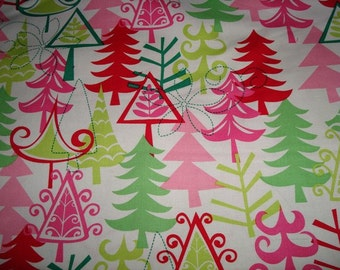 Christmas fabric  Yule Trees fabric by Michael Miller - 2 yards 32 inches