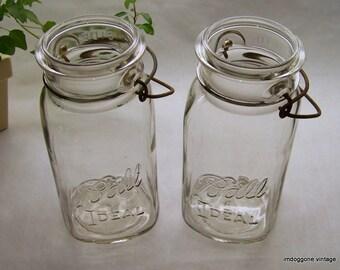Canning Jars Pair Etsy