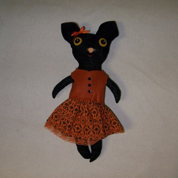 Hester the Big Eyed Cat Doll