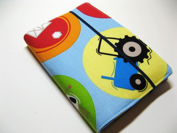 Children's Crayon Wallet Coloring Case - Blue Farm Friends - Includes Crayons and White Notepad - Ready to Ship