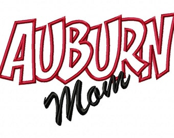 Auburn Girl Embroidery Machine Applique Design 15052