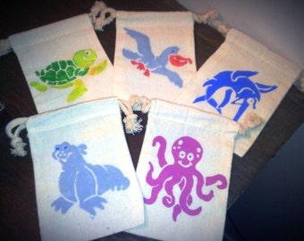 10 Sea Life favor / treat bags
