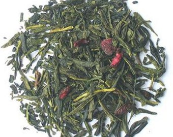 1 oz Cherry Green Tea