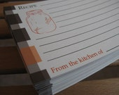 Mason Jar with Plaid - Recipe Cards - Blank - Set of 50