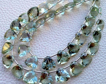 5 Matched Pair Gorgeous, Super Quality GREEN AMETHYST Cut 12x12mm,Trillion Shape Briolettes,Great Price