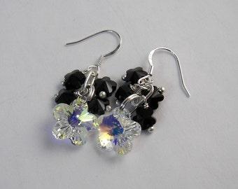 Swarovski Crystal Flowers Are Fresh Earring