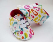 Baby girl shoes neon animal print shoes baby girl canvas sneakers- Personality Plus