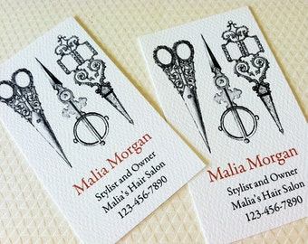 Business Card, Custom Business Card, Sewing Stylist Seamstress - Set of 50