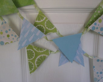 Lime aid Summer  Banner---Garland Ocean Blue/Coastal Blue