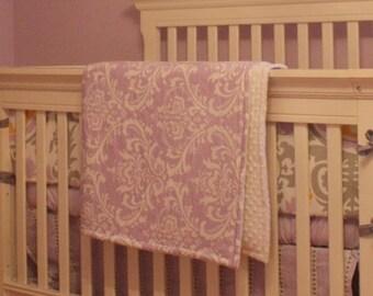 Minky Crib Blanket--YOU DESIGN, I CREATE