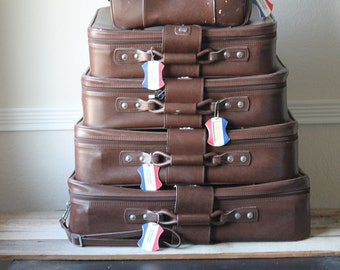 Vintage American Tourister Luggage Set, Soft Sided, Nesting