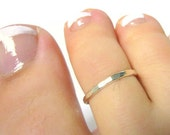 Sterling silver toe ring sterling toe ring hammered toe ring summer fashion