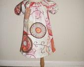 Custom Boutique Modern Asian Garden Peasant Dress