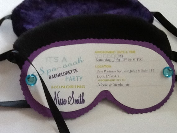 Items similar to spa mask sleep mask eye mask for Spa mask invitation template