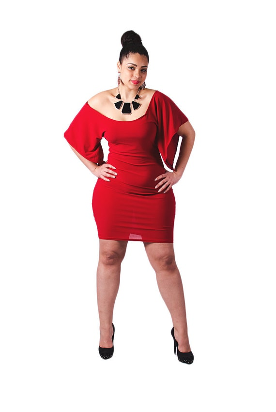 Plus Size Off The Shoulder Pencil Dress For Curvy Women By Deemai