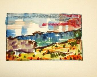 Watercolor Original dreams number 30