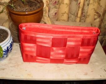 Red Seatbelt Clutch w/zipper
