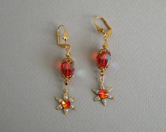Hyacinth Crystal Flower Earrings