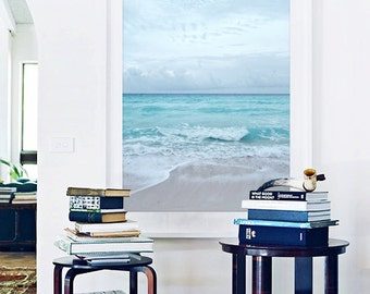 Beach Photography Ocean Sea Summer Aqua Blue Beach Seashore Horizon Surf Decor