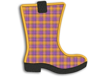 Rubber Boot Applique Machine Embroidery Design