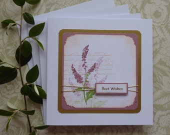GREETINGS CARDS  ( pack of 4  ) ' Sea Beet '  .Mixed sentiments .UK seller..  ready to ship..