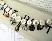 Tea Pot Button Charmer Vintage Mother of Pearl Button Locket Charm Bracelet