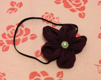 Dark purple thin stretchy headband