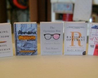 LIBRARY BOOKS  - Dollhouse Miniature 1:12 Scale