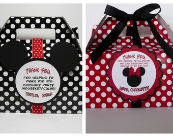 Minnie and Mickey Mouse Favor Boxes - Set of  48