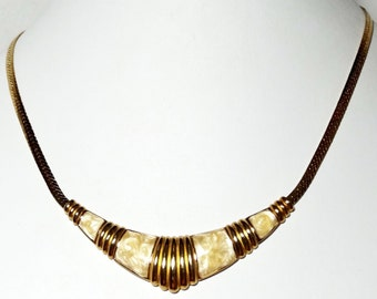 Enameled Chevron Necklace 1960's Apparel & Accessories Jewelry Vintage Jewelry Necklace