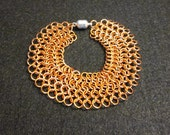 Chainmaille bracelet - Copper European 4 in 1 chainmaille bracelet