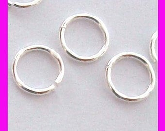 30pcs 7mm round open sterling silver jump ring finding connector 18 gauge wire r27
