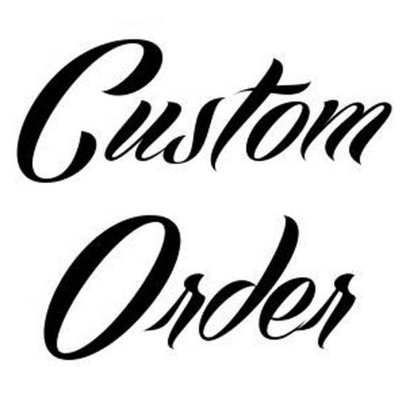 Custom Order - Black Custom Combo