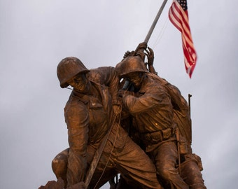 Washington DC Art, Iwo Jima Memorial, 16x20 Fine Art Photograph, Washington DC Print, Washington DC Photography