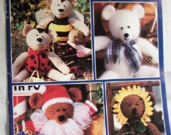 A Year of Teddy Bears: 18 Beary Cute Crocheted Bears crochet booklet