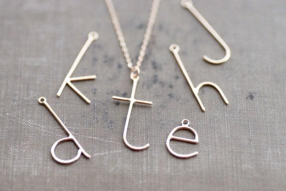 E is for Emmy - in 14 Kt Goldfill - Custom Initial Charm - Handmade