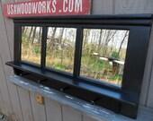 black coat rack  bench shelf   ..distressed  black