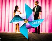"Pinwheel Engagement Photo ""Save the Date"" Prop"