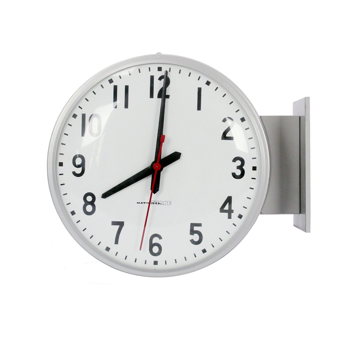 Vintage National Time Double Sided School Clock