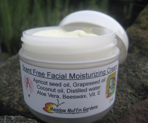 Scent-Free, Fragrance-Free Moisturizing Face Cream, Sensitive Skin Care, Men, Women, Children, Day or Night Cream, Aging Skin, Organic