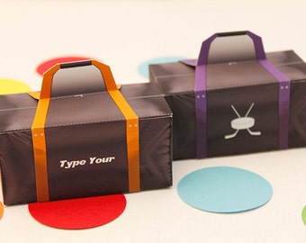 Hockey Bag  Favor Box - DIY Printable PDF