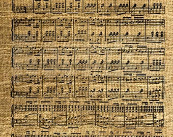 INSTANT DOWNLOAD - Vintage Music Notes Sheet - Download and Print - Image Transfer - Digital Sheet by Room29 - Sheet no. 947
