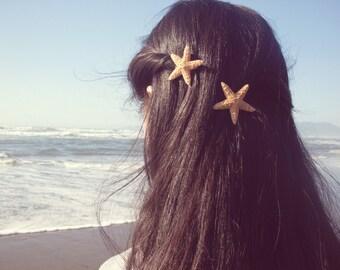 Starfish Barrettes Mermaid Hair Clips Nautical Ariel Costume Sea Stars Ocean Lover Beachy Beach Boho Accessories Unique Womens Gift Summer