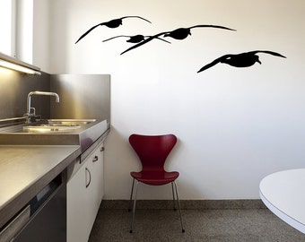 Vinyl Wall Decal Sticker Flying Seagulls OSMB933B